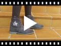 Video from Botas Fecho-éclair Estrela Glitter