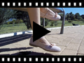 Video from Sapatos Merceditas Menina tira com laço