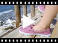 Video from Sapatos de Vela de Lona com Sola Branca