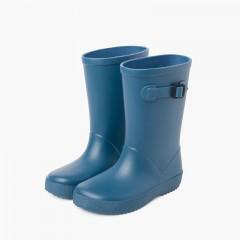 Galochas Splash Fivela Cores Empoeiradas Azul