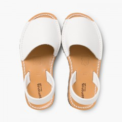 Sandálias Menorquinas Napa Branco