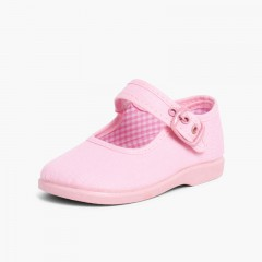 Sapatos Merceditas de Lona para Meninas Rosa