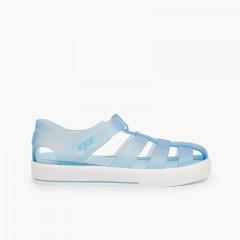 Sandálias de Borracha com tiras aderentes tipo Ténis Celeste