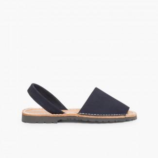 Sandálias Menorquinas Nobuck Azul-marinho