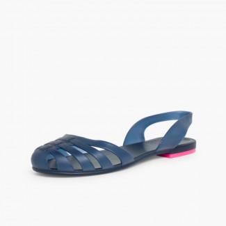 Sandálias de Borracha para Mulher Paris Azul-marinho