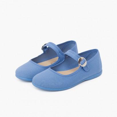 Mercedita Lona Menina Fivela Japonesa Azul Claro