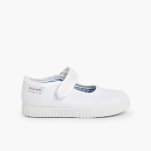 Sapatos Merceditas Menina tiras aderentes   Sola tipo Ténis