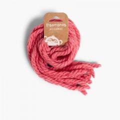 Fios para o cabelo de menina em lã monocolor Rosa França
