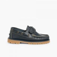 Sapatos de Vela com tiras aderentes   Azul-marinho