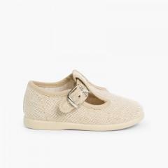 Sapatos Pepito Linho com Fivela Linho