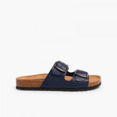Sandálias Bio Fivelas Meninos Azul-marinho