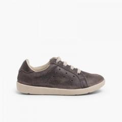 Ténis Sneakers para Crianças Camurça Cinzento
