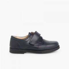 Sapatos Colegiais Menino tiras aderentes   Azul-marinho