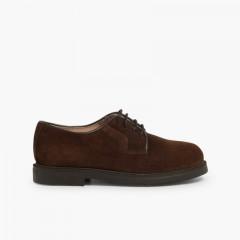 Sapatos Blucher lisos Castanho