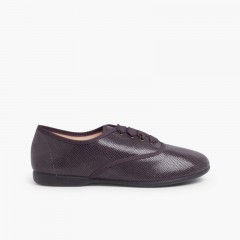 Sapatos Blucher Menina e Mulher tipo Serpente Cinzento