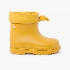 Galochas crianças pequenas cores pastel Amarelo