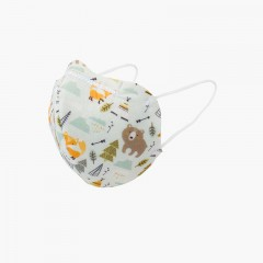 Máscaras reutilizáveis para crianças estampadas Bosque