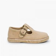 Sapatos Pepito Fivela Bamara e Juta Bege
