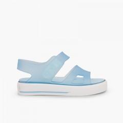 Sandálias de Borracha tipo Ténis Malibú Celeste