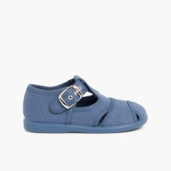 Sandálias Pepito de lona Azul Jeans