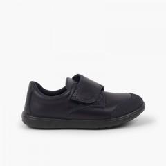 Sapatos Colegiais Laváveis Menino com Biqueira Reforçada Azul-marinho
