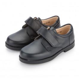 Sapatos Colegiais com Velcro Azul Marinho/Preto