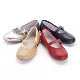 Sapatos Merceditas Menina Pele Cores