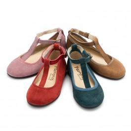 Sapatos Merceditas Menina Camurça com fecho pulseira
