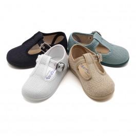 Sapatos Pepito Linho com Fivela