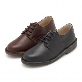 Sapatos Oxford Menino Pele