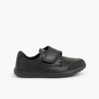 Sapatos Colegiais Laváveis Menino com Biqueira Reforçada Preto