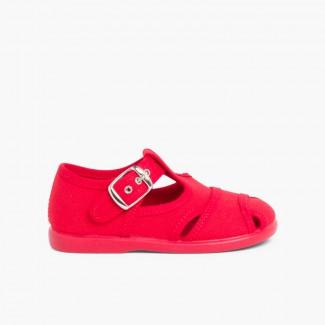 Sandálias Pepito de lona Vermelho