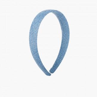Bandolete Larga Tecido de Saco Azul França