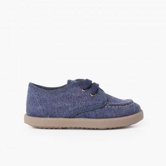 Sapatos de Vela Lona Casual Sport Azul Jeans