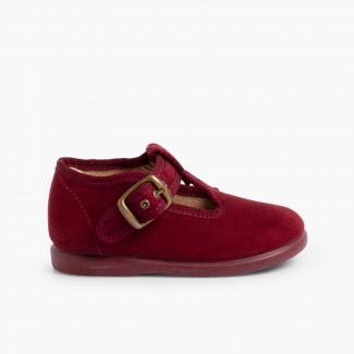 Sapato Pepito tipo Camurça  Bordeaux