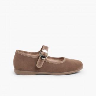 Sapatos Mercedita Bamara Fivela Japonesa Cinzento-acastanhado