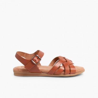 Sandálias Palmilha de Gel Couro