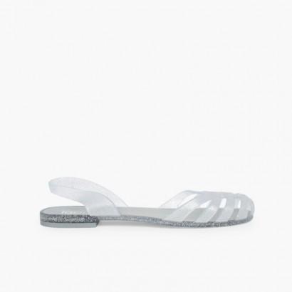 Sandálias de Borracha para Mulher Paris Prata