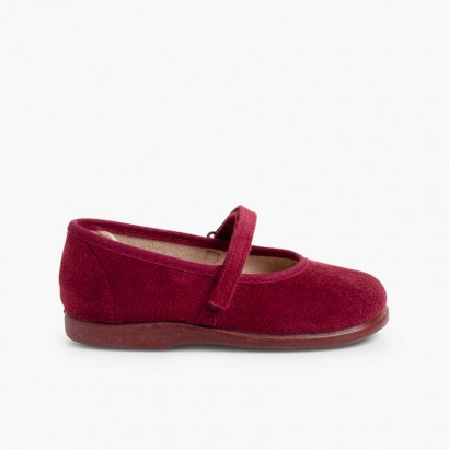 Sapatos Merceditas Bamara com tiras aderentes   Bordeaux