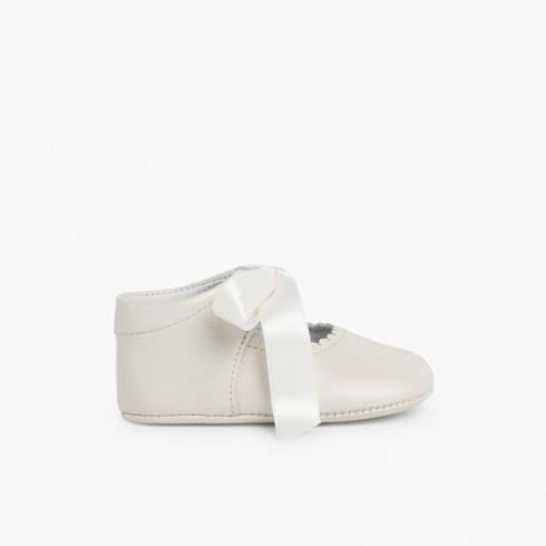 Sapato Mercedita Batizado Bebé  Bege
