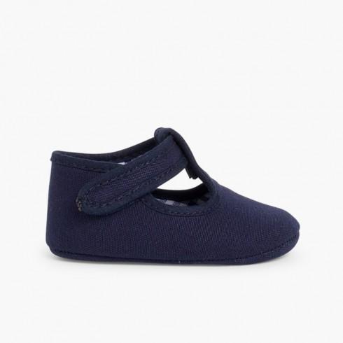 Sapatos Pepito Bebé Tela tiras aderentes   Azul-marinho