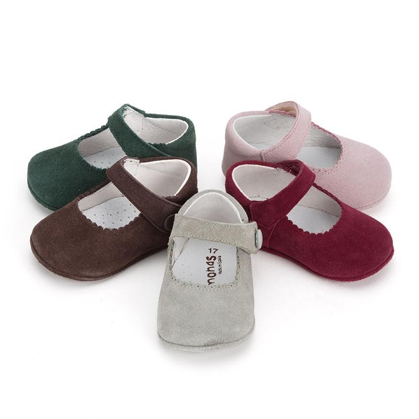 Sapato Mercedita Camurça Bebé com tiras aderentes