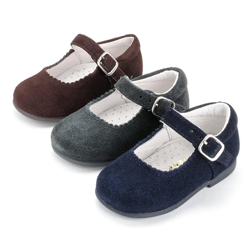 Sapatos Merceditas Camurça Menina com Fivela