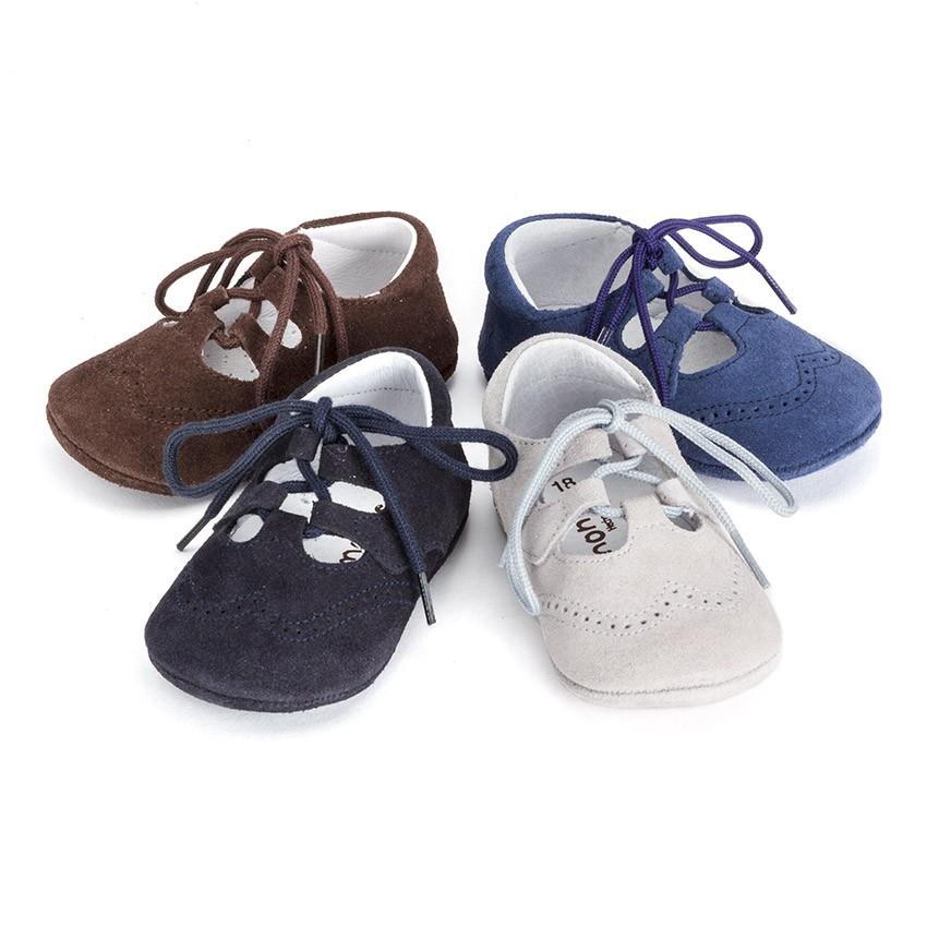 Sapato Estilo Inglês Camurça Bebé