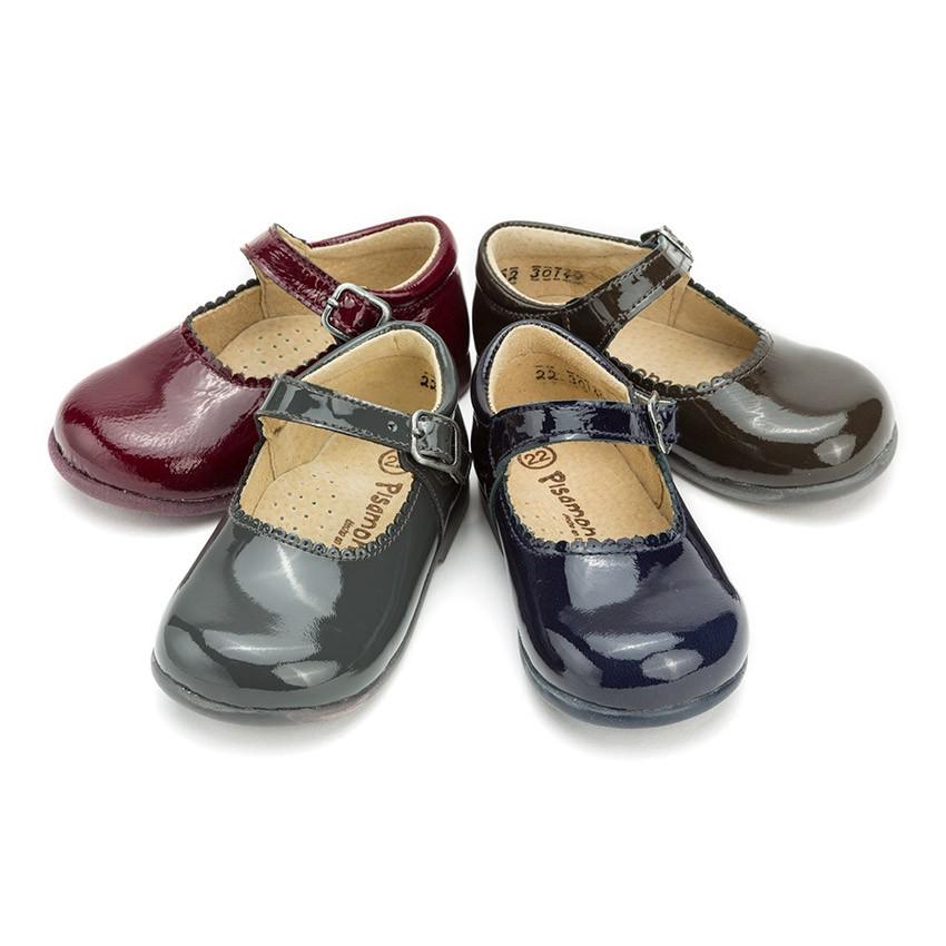 Sapatos Merceditas Menina Verniz Fivela