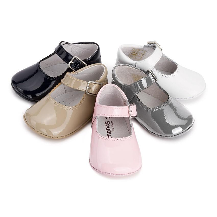 Sapato Mercedita Bebé Verniz Fivela