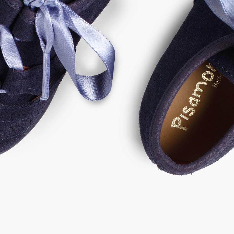 Zapatos_ingles_ninos_en_serraje_Azul_Marino