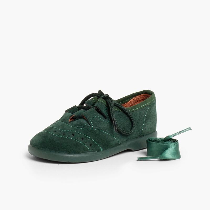 Zapatos_ingles_ninos_en_serraje_Verde