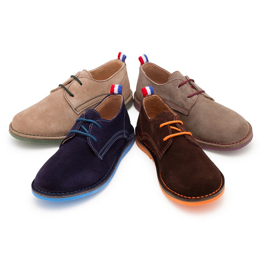 Sapatos Blucher Camurça Sola e Atacadores Cores