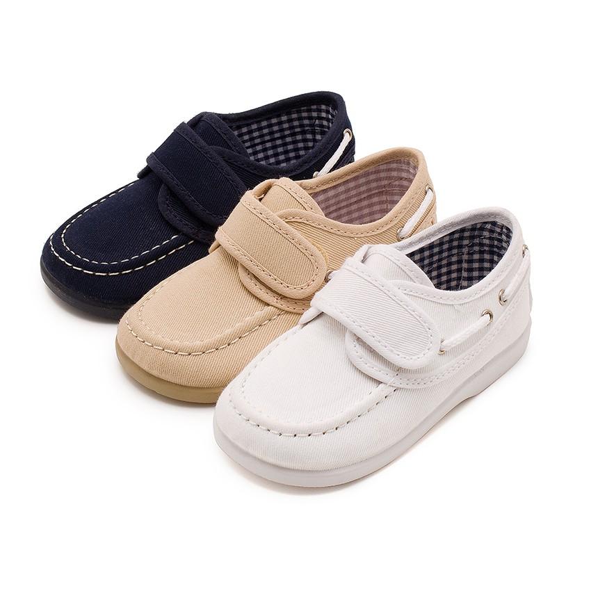 Sapatos de Vela Tela Fecho tiras aderentes